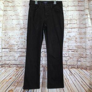 NYDJ Barbara Bootcut Brown Jeans Bling size 6